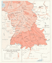 Allied invasion of Germany. Leipzig Danube. American Advance April 1945 1968 map